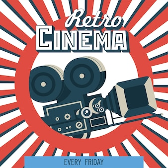 Câmera de filme vintage. emblema do vetor. logotipo.