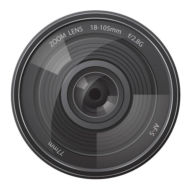 Câmera de foto da lente.