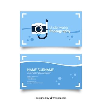 Câmera de mergulho, cartão de visita