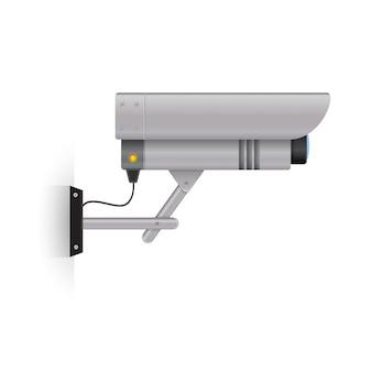 Câmera de segurança ao ar livre.