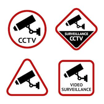 Câmera de segurança, conjunto de adesivos