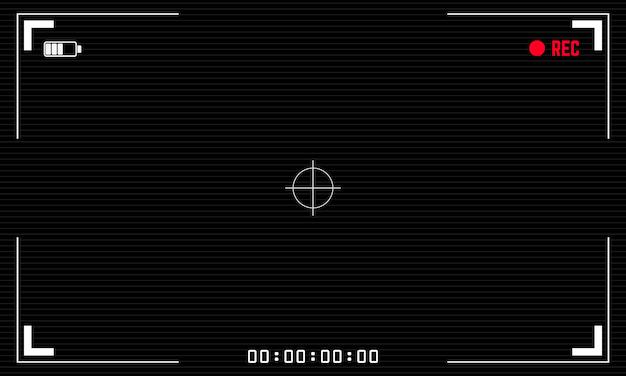 Câmera de vídeo digital com visor