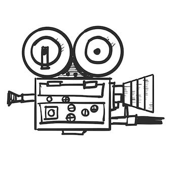 Câmera de vídeo doodle