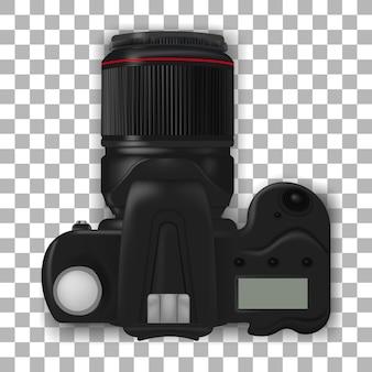 Câmera dslr profissional. câmera fotográfica realista.