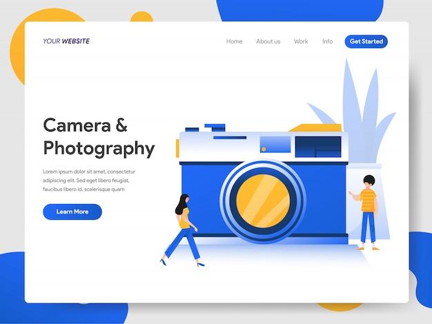 Câmera e conceito de fotografia