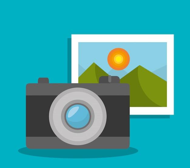Câmera e foto