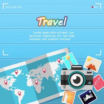 Câmera e imagem viajam ao redor do mundo.