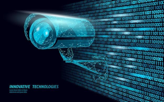 Câmera móvel de controle de privacidade cctv