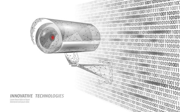Câmera móvel de controle de privacidade cctv Vetor Premium
