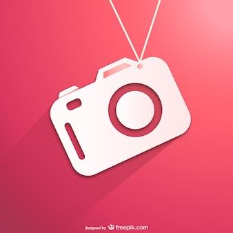 Câmera plana ícone do vetor
