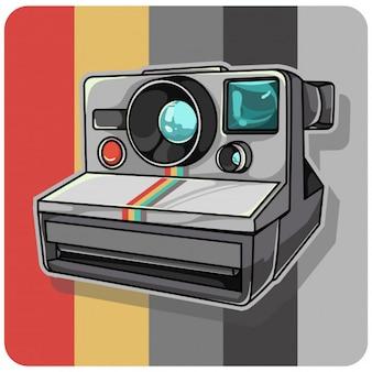 Câmera polaroid vintage