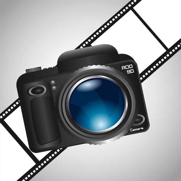 Câmera sobre faixa de filme