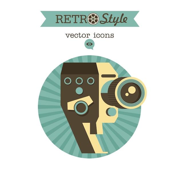 Câmera vintage. logotipo do vetor, ícone.