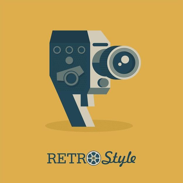 Câmera vintage. logotipo do vetor, ilustração, logotipo.