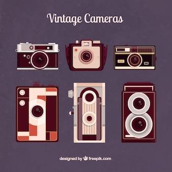 Câmeras de fotografia do vintage
