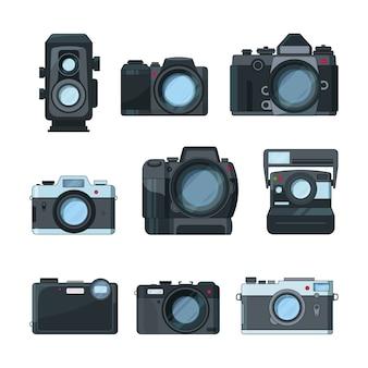 Câmeras fotográficas dslr.