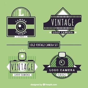 Câmeras pacote logos retro
