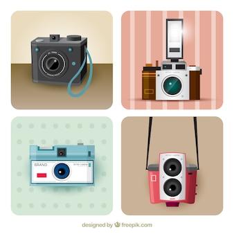 Câmeras retros diferentes