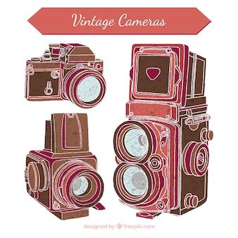 Câmeras velhas da foto esboços