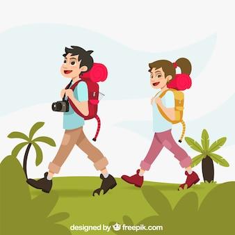 Caminhada de casal