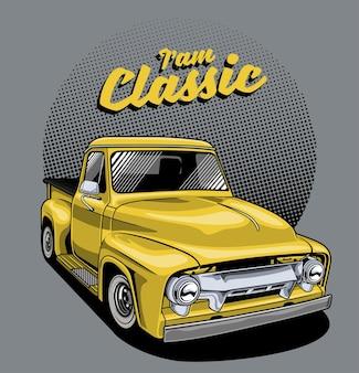 Caminhão amarelo clássico
