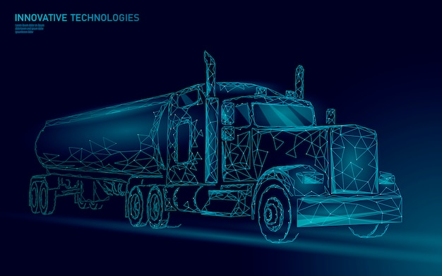 Caminhão americano. reboque de negócios de transporte logístico.