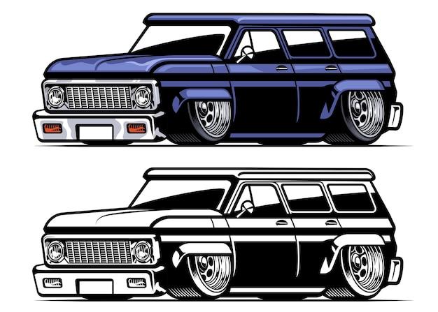 Caminhão baixo americano vintage
