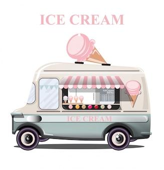 Caminhão carrinho de sorvete