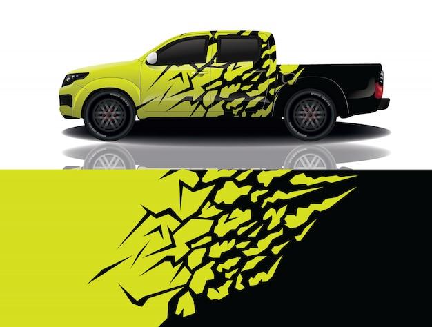 Caminhão carro decalque envoltório design