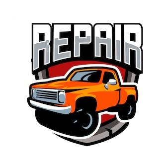 Caminhão clássico carro emblema logotipo