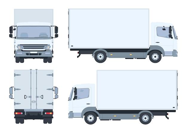 Caminhão com vista de todos os ângulos