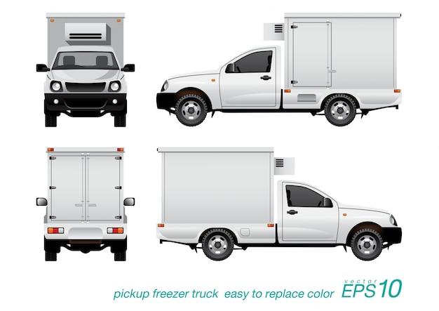 Caminhão congelador de coleta.
