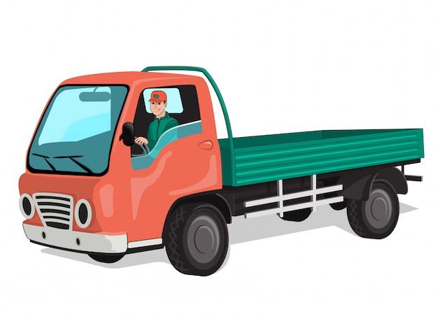 Caminhão da cidade com motorista