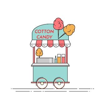 Caminhão de algodão doce