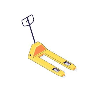Caminhão de armazém isométrico para caixas de paletes fretes ilustração de mercadorias