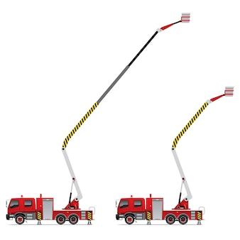 Caminhão de bombeiros com guindaste