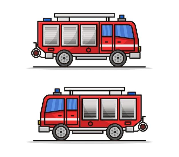 Caminhão de bombeiros de desenho animado