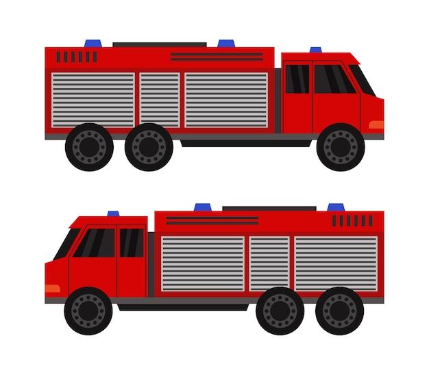 Caminhão de bombeiros em branco