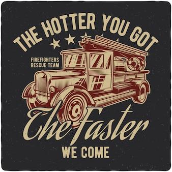 Caminhão de bombeiros vintage