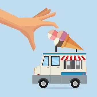 Caminhão de comida de sorvete