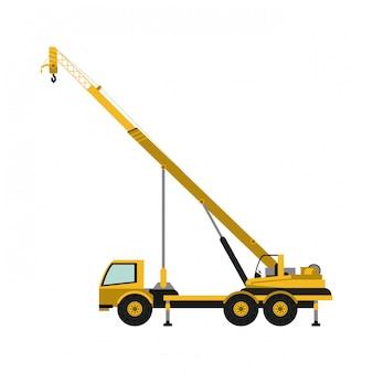 Caminhão de construção com guindaste