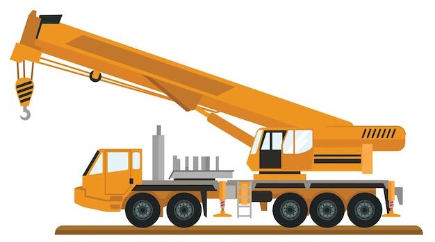 Caminhão de construção de guindaste móvel