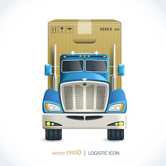 Caminhão de ícone logístico