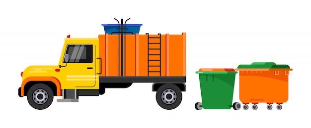 Caminhão de lixo, veículo de lixo