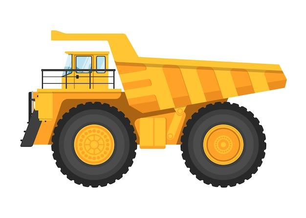 Caminhão de mineração isolado no branco