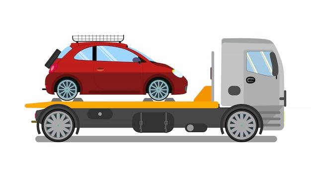 Caminhão de reboque, camião no trabalho