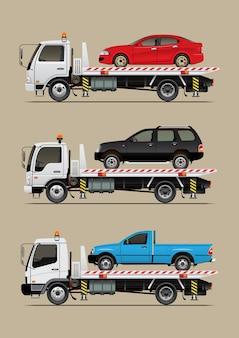 Caminhão de reboque com carro