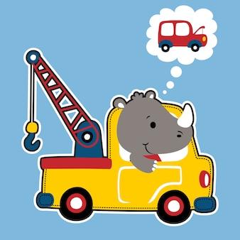 Caminhão de reboque vetor de desenhos animados