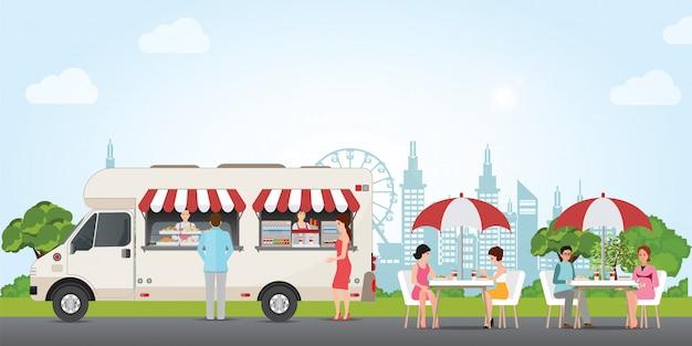 Caminhão de rua fast food