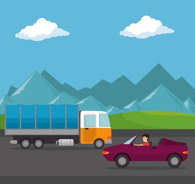 Caminhão de serviço de entrega isolado